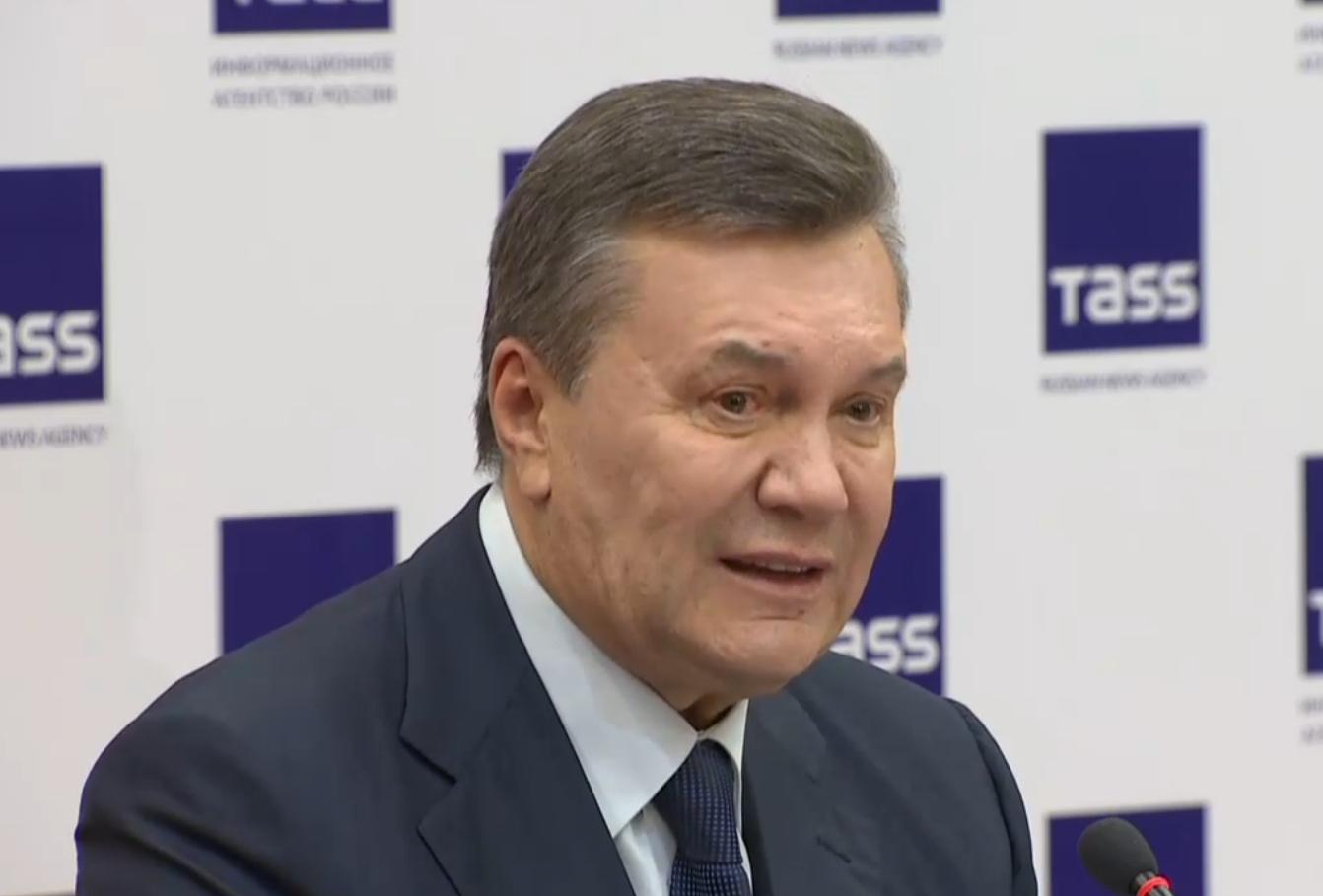 Янукович: Позиция В.Путина поКрыму иДонбассу вызывает почтение